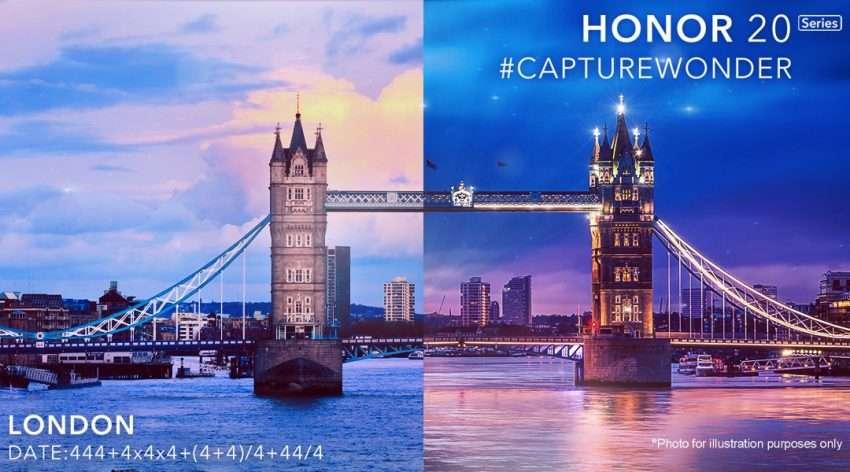 أونور ستكشف عن سلسلة Honor 20 يوم 21 مايو في لندن