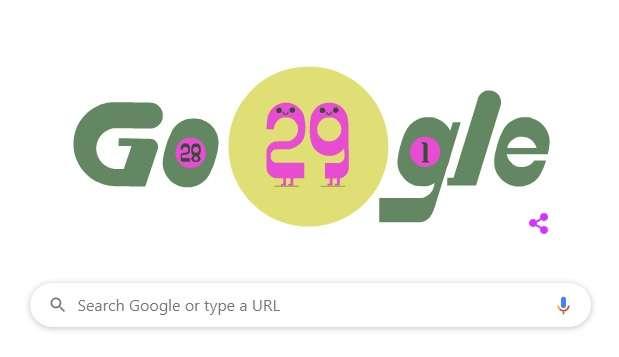 محرك بحث جوجل يحتفل بموعد اليوم الكبيس