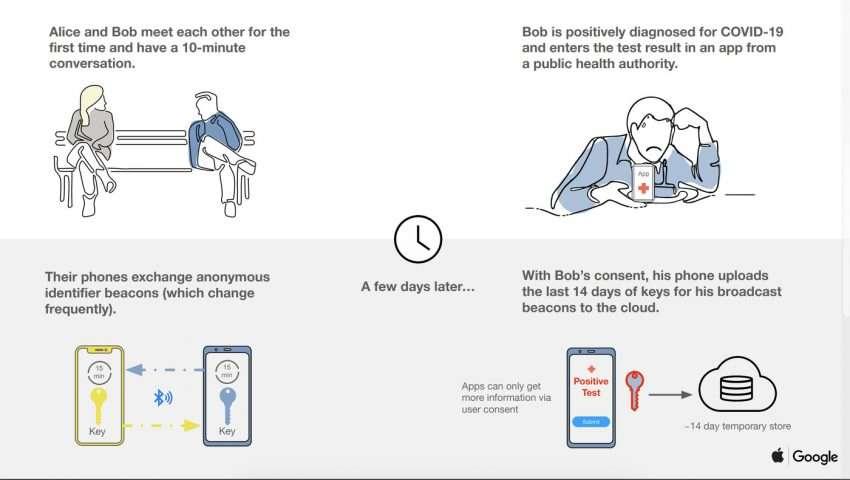 آبل وجوجل تتحدان لمواجهة كورونا بتقنية جديدة