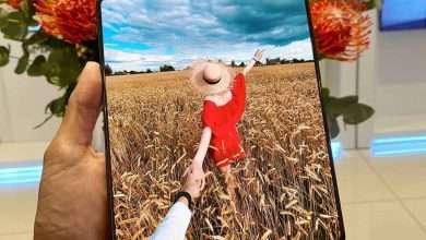 صورة جالكسي زد فولد 3 Galaxy Z Fold 3 يظهر في صورة ثلاثية الأبعاد