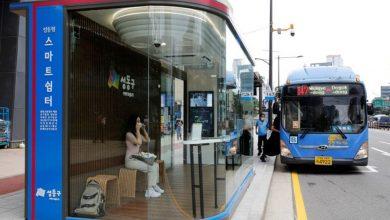 صورة محطات حافلات ذكية لمواجهة وباء كورونا في كوريا الجنوبية