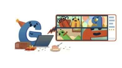جوجل تحتفل بعيد ميلادها الـ22 بشعار مبتكر