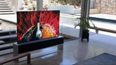صورة ال جي تخطط لإطلاق أول شاشة تلفاز قابلة للف في العالم الشهر القادم