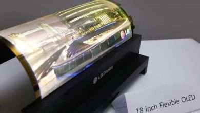 صورة ال جي تسجل براءة اختراع لجهاز فريد بشاشة OLED قابلة للطي مع قلم وكاميرا