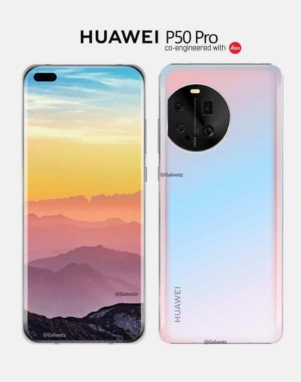 هواوي بي 50 برو Huawei P50 Pro أول صورة مسرّبة بدقة عالية تكشف تصميمه الأنيق
