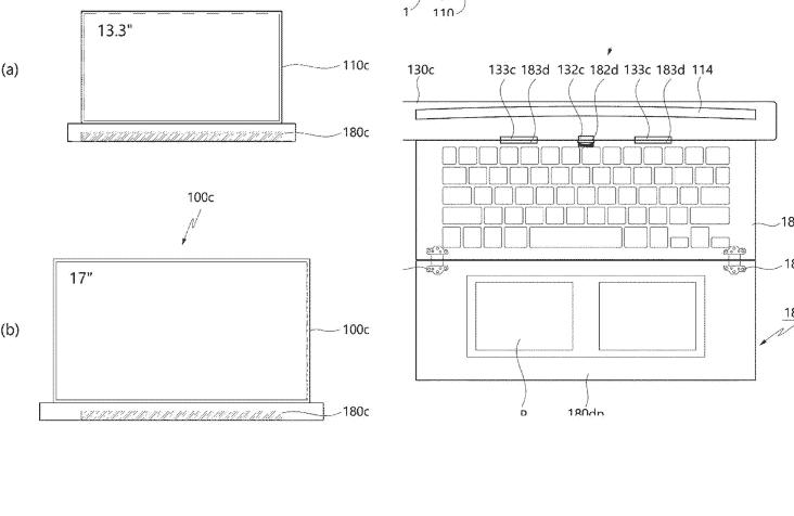 ال جي تسجّل براءة اختراع لجهاز لاب توب بشاشة 17 إنش قابلة للتمدد