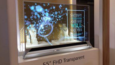 شاشات OLED الشفافة