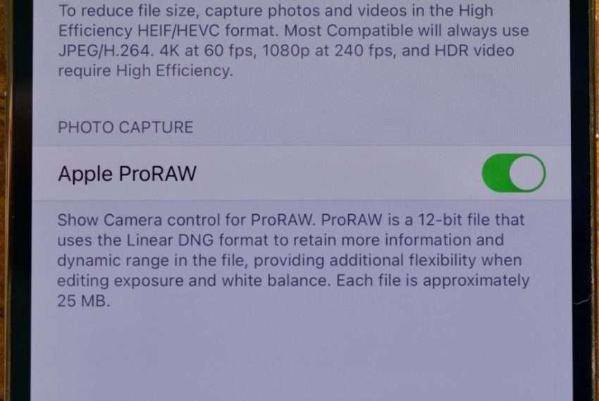 مميزات خاصية Apple ProRaw في النسخة التجريبية من iOS 14.3