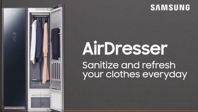 سامسونج تطلق آلة AirDresser الجديدة التي تدعم ميزة تعقيم الملابس