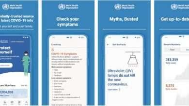 تطبيق فيروس كورونا من منظمة الصحة العالمية WHO يطلق لأول مرة