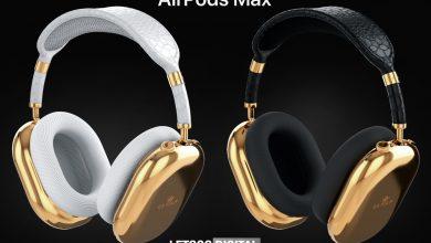 كافيار تطلق ايربودز ماكس AirPods Max المطلية بالذهب وجلد التمساح