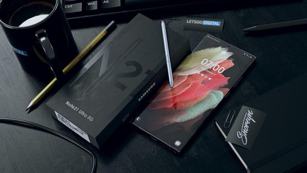 جالكسي نوت 21 الترا Galaxy Note 21 Ultra يظهر في فيديو مسرّب يكشف تصميم ثلاثي الأبعاد للهاتف