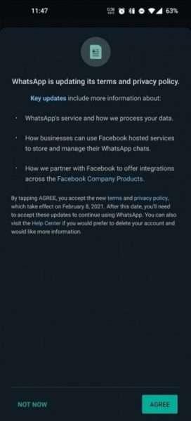 واتساب WhatsApp يقدّم سياسة خصوصية جديدة للمستخدمين بشروط إجبارية