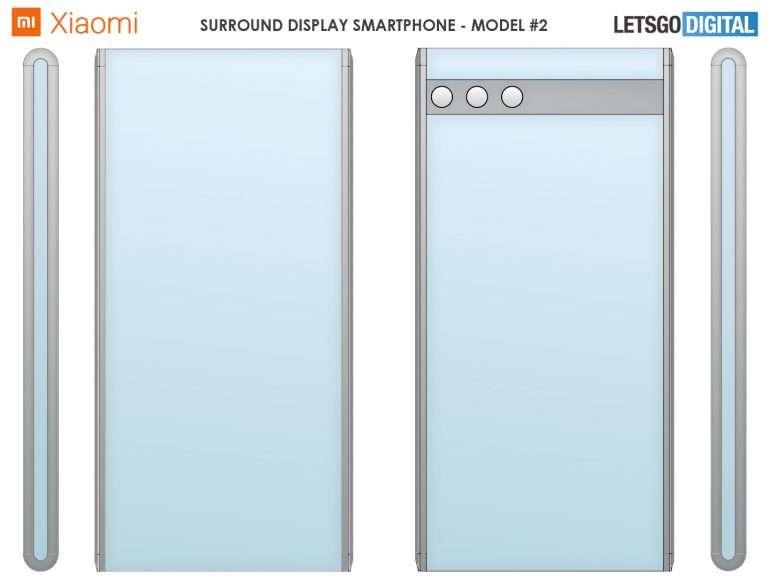 هاتف بشاشة ملتفة - براءة اختراع جديدة من شاومي