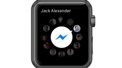 ساعة فيسبوك الذكية