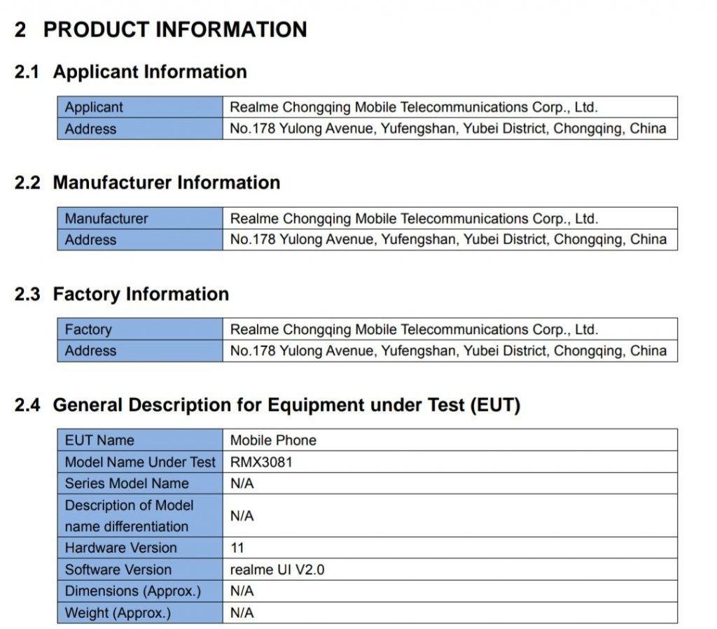 ريلمي 8 برو - Realme 8 Pro يظهر في تفاصيل ومواصفات جديدة