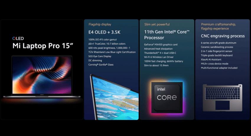 سعر شاومي مي لابتوب برو - Xiaomi Mi Laptop Pro ومواصفاته رسميًا
