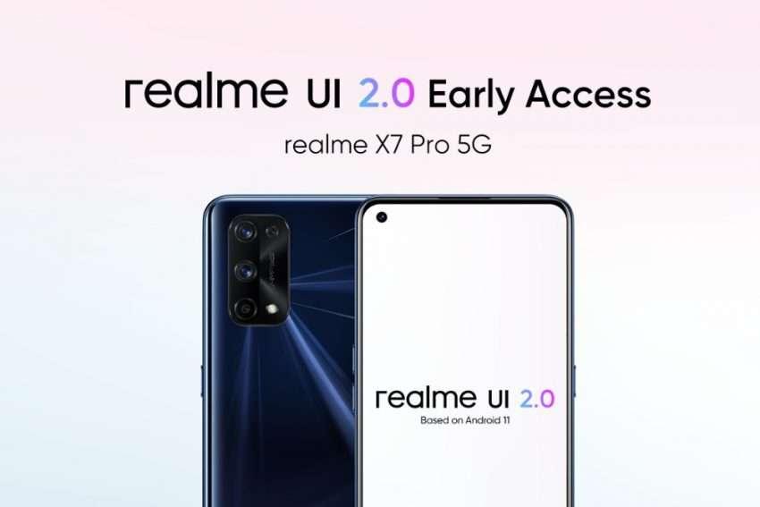 ريلمي اكس 7 برو realme X7 Pro يتلقى تحديث أندرويد 11 وواجهة realme UI 2.0