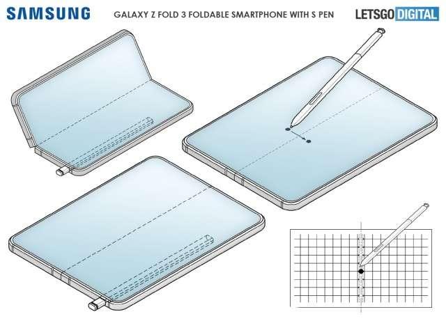 جالكسي زد فولد 3 – Galaxy Z Fold3 هل سيحصل على فتحة لمنفذ قلم S pen؟