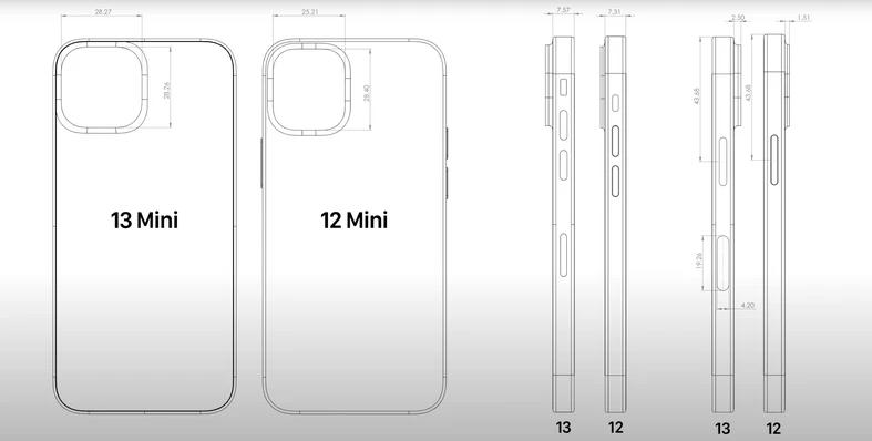 ايفون 13 ميني - iPhone 13 mini تسريب جديد يكشف تصميم الهاتف