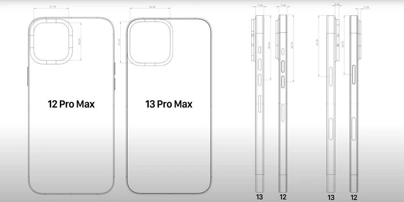ايفون 13 وايفون 13 برو ماكس يظهران في صور تكشف تصميم الهواتف