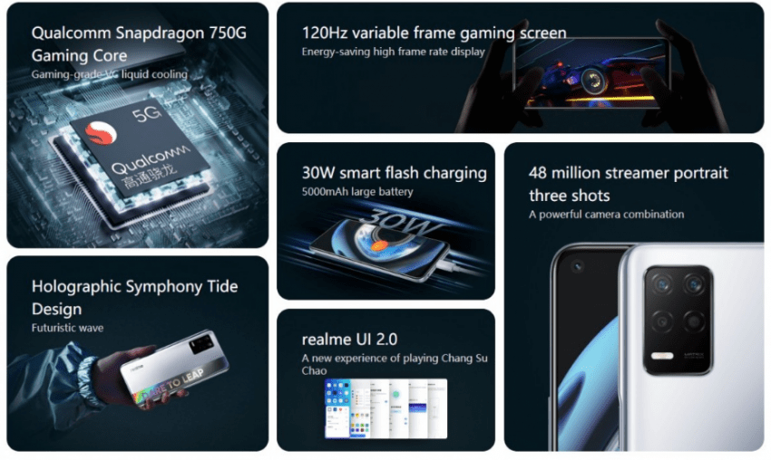 سعر ومواصفات ريلمي كيو 3 فايف جي - realme Q3 5G رسميًا