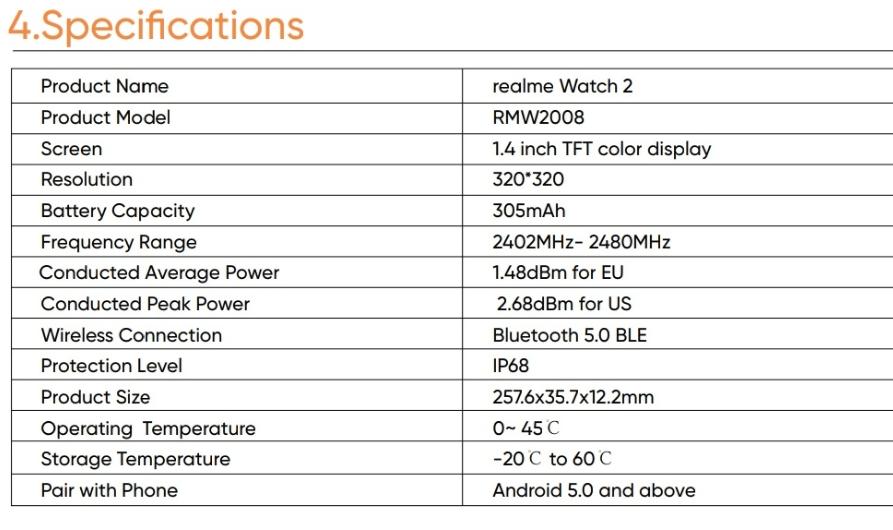 مواصفات ريلمي ووتش 2 - realme Watch 2 تظهر قبل الإطلاق الرسمي
