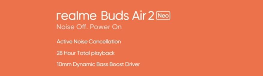 ريلمي بودز اير 2 نيو - realme Buds Air 2 Neo تحديد موعد إطلاق السماعات رسميًا