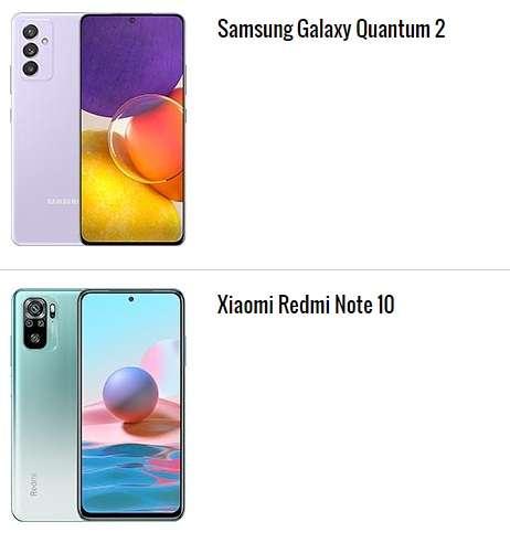 الهاتف الثالث والرابع ضمن أعلى 10 هواتف تصنيفًا