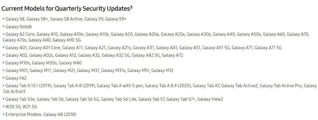 تحديثات Galaxy Ax2