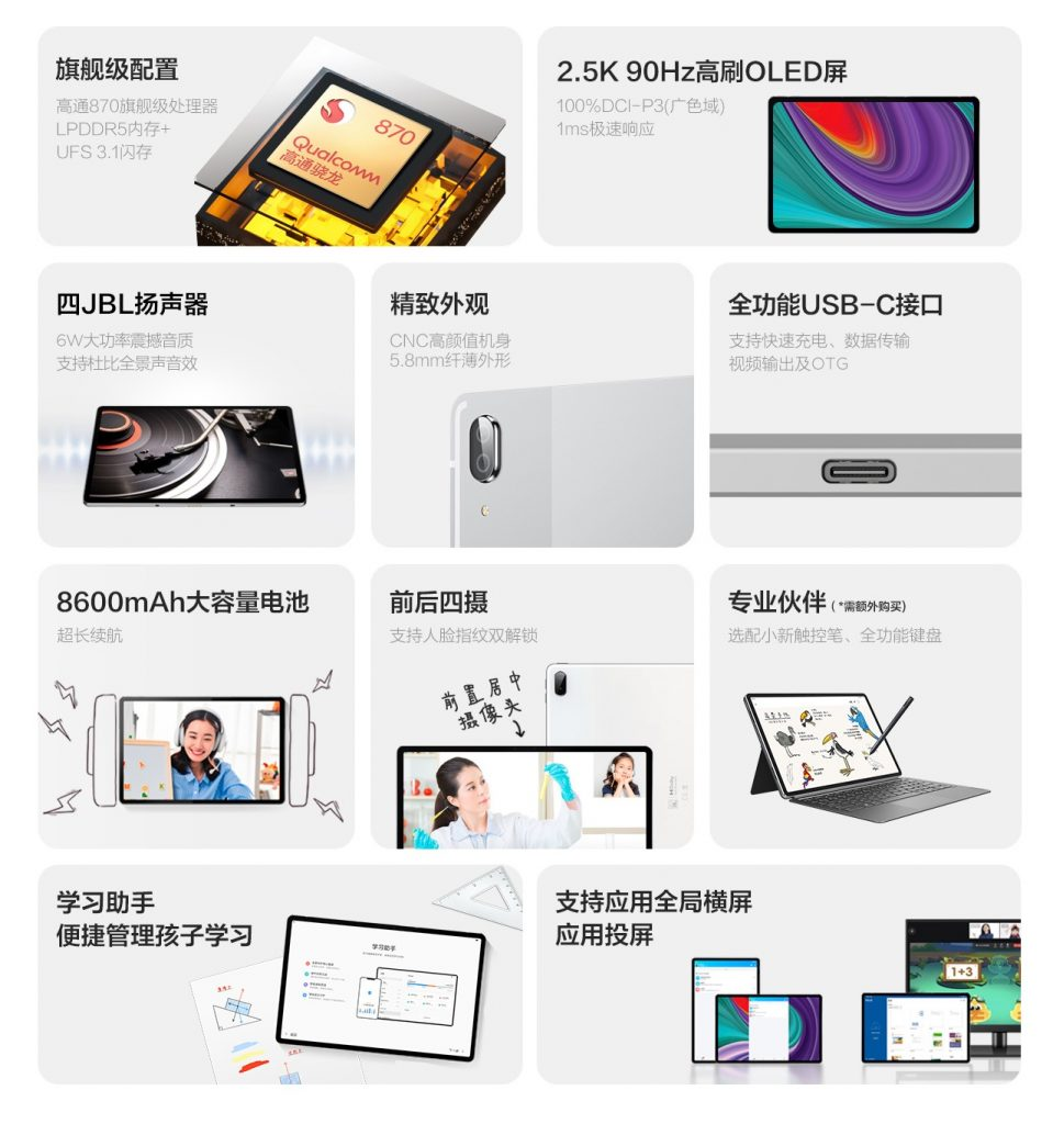 سعر ومواصفات تابلت Xiaoxin Pad Pro 2021 رسميًا