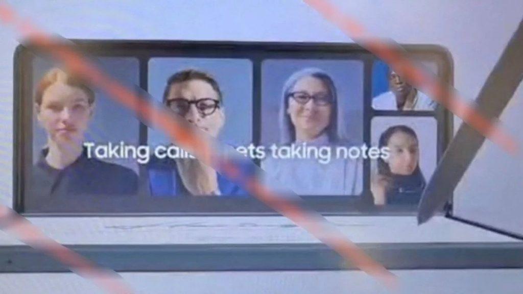 سامسونج جالكسي زد فولد 3 – Galaxy Z Fold 3 يظهر لأول مرة في صور مسرّبة مع القلم S Pen