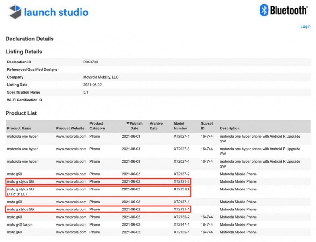 مواصفات موتو جي ستايلس 5 جي – Moto G Stylus 5G تظهر على منصة Geekbench