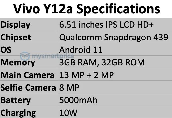 مواصفات فيفو واي 12 اى - vivo Y12a بحسب آخر التسريبات