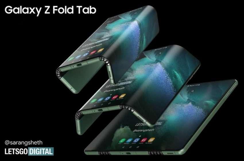 سامسونج جالكسي زد فولد تاب Galaxy Z Fold Tab تسريب صور أول تابلت قابل للطي