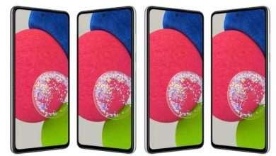 سامسونج جالكسي اى 52 اس - Galaxy A52s يظهر بتصميم مميز في مجموعة من الصور الرسمية