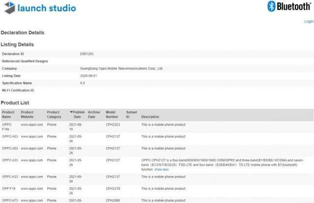 مواصفات اوبو اف 19 اس - OPPO F19s بحسب آخر التسريبات