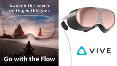 اتش تي سي HTC تقدم نظارة VR جديدة باسم Vive Flow خلال حدث اليوم 14 أكتوبر